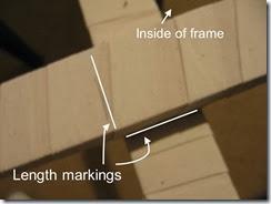 Basting frame marking 2