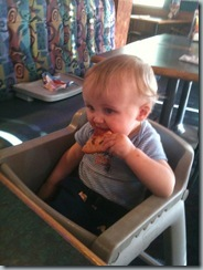 G eating Pizza 7-1-2011