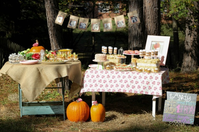 Shabby Chic Fall Birthday Party