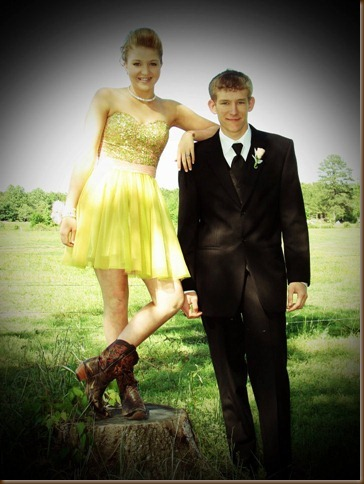 Trent and his date kerston