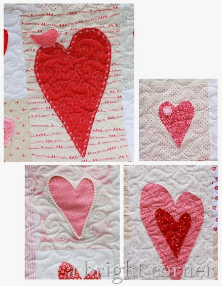 applique heart blocks