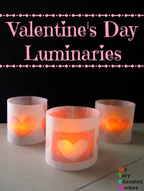ValentinesDayLuminaries via @mvemother #Holidays #Crafts #Projects