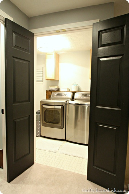 double doors to laundry room
