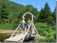 Neat footbridge on the trail around Jordan Pond