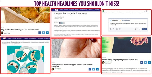 top health headlines