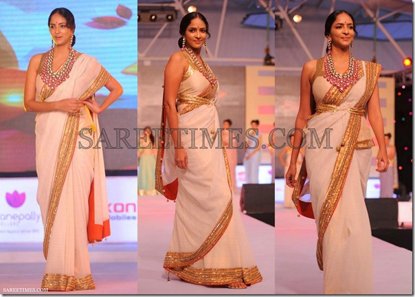 Lakshmi_Prasanna_White_Saree