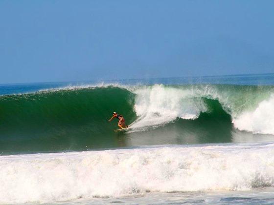 Surfer at playa camaronal beach[5]