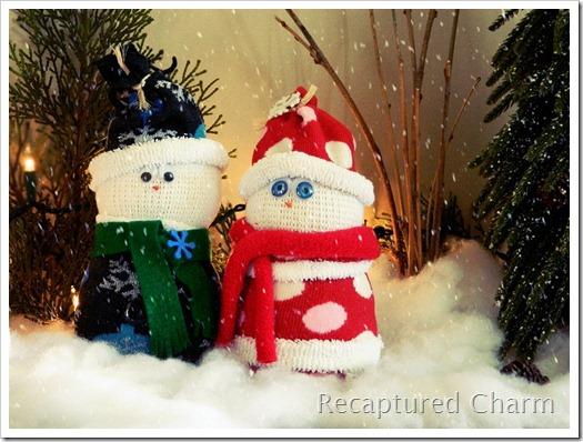 Sock Snowman Sock Santa 011b