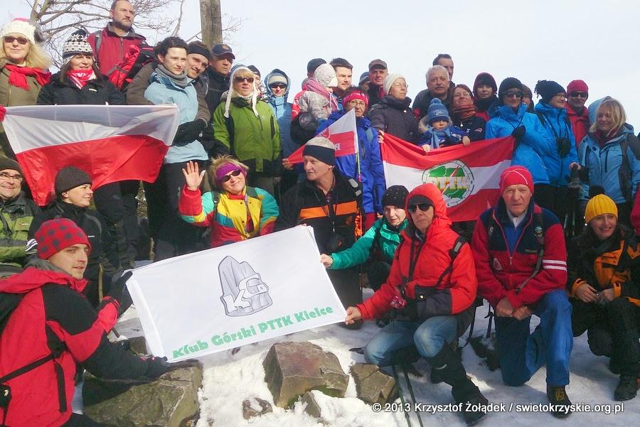 Zimowe wejście na Łysicę 2014