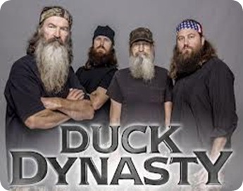 Speaking of season finales, Duck Dynasty is almost there. Like