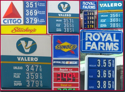 gas price collage0618