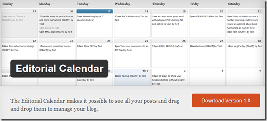 WordPress Plugins For Multi Author Blog - Editorial Calender