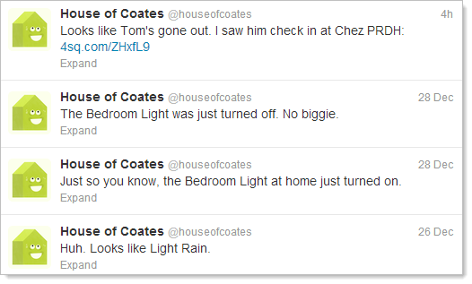 Twitter timeline of @TheHouseOfCoates