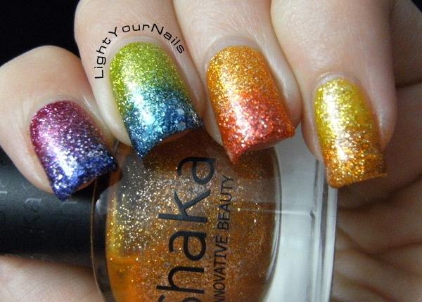 Shaka glitters rainbow