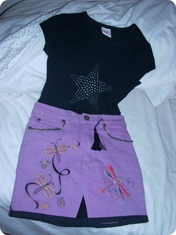 Purple N BlackSkirt