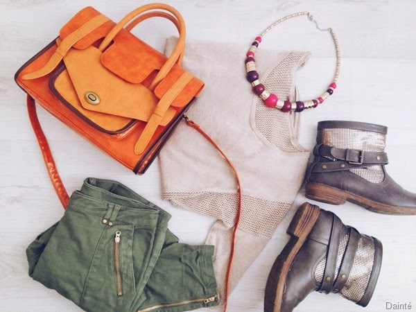 outfit fall winter ootd dainte spela seserko boots ankle jumper gold