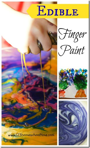 Amazing, easy to make EDIBLE Finger Paint - perfect for toddler, preschool, kindergarten age kids for a fun sensory activity.