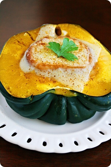 The Comfort of Cooking » Acorn Squash Soup with Swiss Crostini