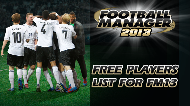 Free Players list For Football Manager 2013