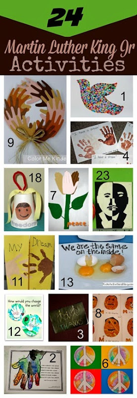 24 Martin Luther King Jr Activities for Kids - Toddler, Preschool, Kindergarten, 1st grade, 2nd grade, 3rd grade, and more