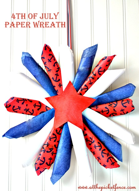 4th of July Paper Wreath