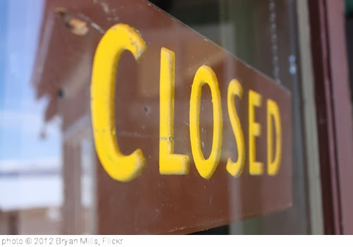 'Closed Sign in Yellowstone' photo (c) 2012, Bryan Mills - license: http://creativecommons.org/licenses/by/2.0/