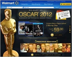 Walmart faz promoção especial Oscar 2012: Descontos nos filmes + concurso cultural.