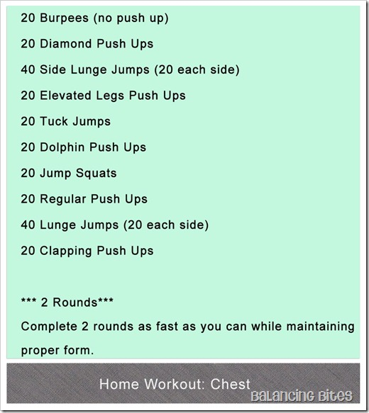Home Workout Chest