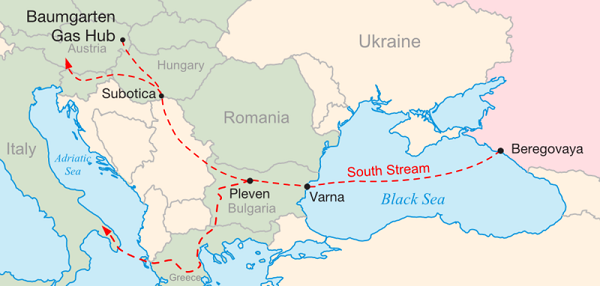 South Stream Route