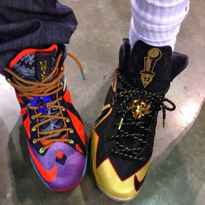 nike lebron 10 cs championship by dank 2 03 King James Rocks Custom Championship Xs on NBA Media Day