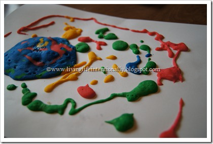 Sensory Play with Puffy Paint for Preschoolers