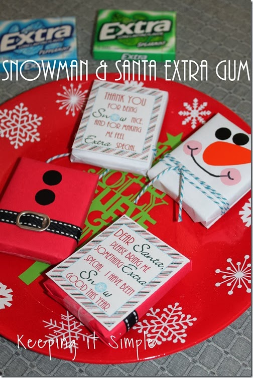 #shop Teacher and Santa gift #GiveExtraGum