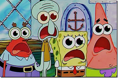 Spongebob and Patrick - Shocked