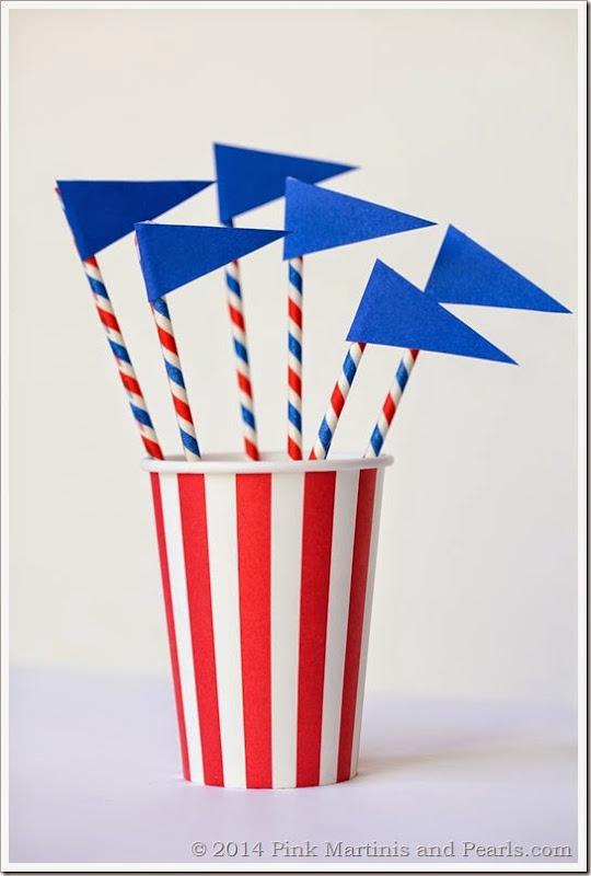 DIY Pennant Flag Cupcake Toppers