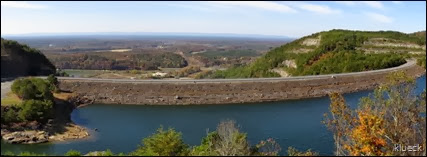 panoramic of Carters Lake Dam