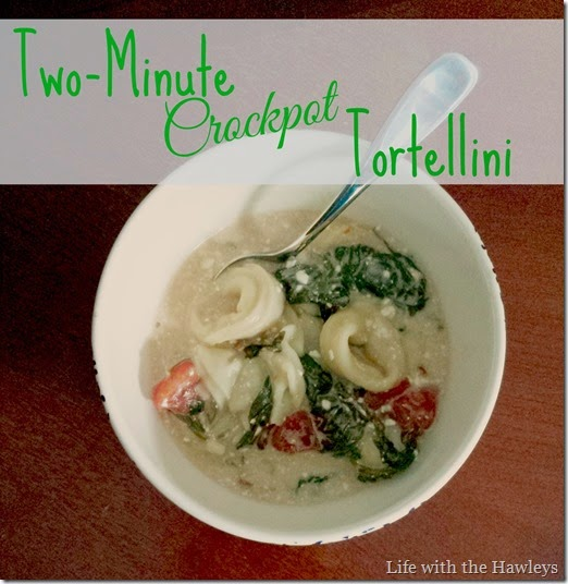 Two Minute Crockpot Trotellini