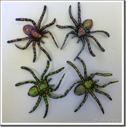 Glittered spiders 2