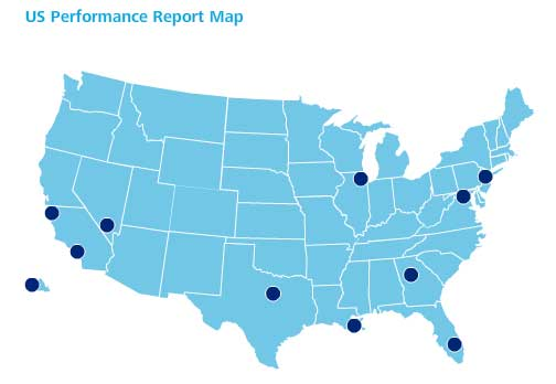 US Performance Report Map