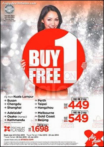 AirAsia Buy 1 FREE 1 Promotion 2013 October Deals Offer Shopping EverydayOnSales