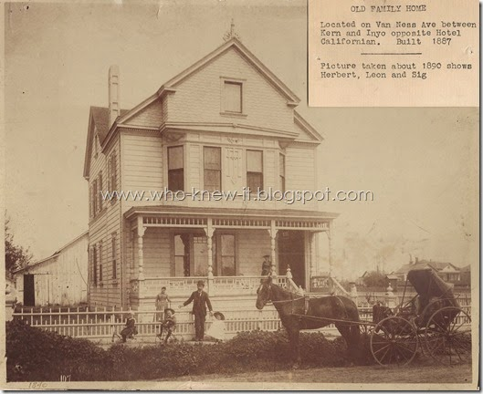 Levy House Van Ness Avenue Fresno 1890