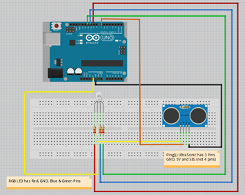 Arduino Project : UltraSonic Sensor to Control RGB LED Light