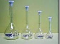 macam-macam labu ukur atau volumetric flask