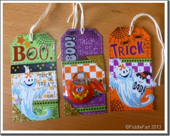 Halloween Trick or Treat Bags with tags. 10
