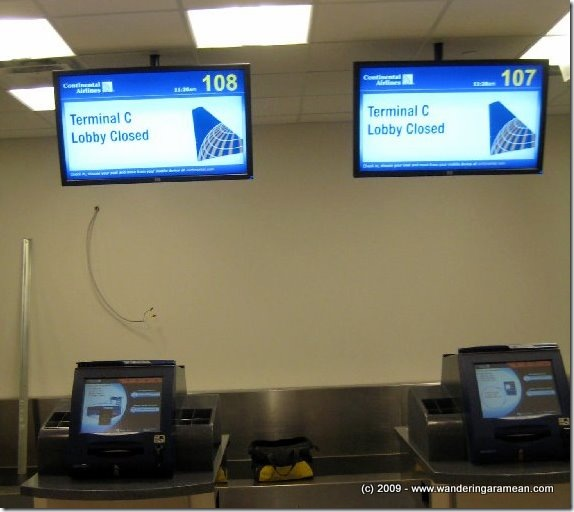Upgrades to check-in at Houston Intercontinental