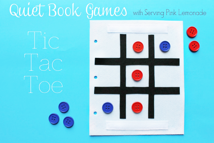 Free Tic Tac Toe Quiet Book Template by Serving Pink Lemonade