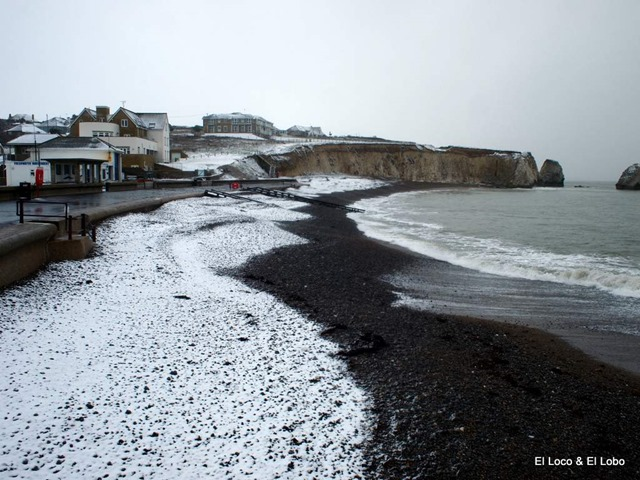 Freshwater Bay in snow
