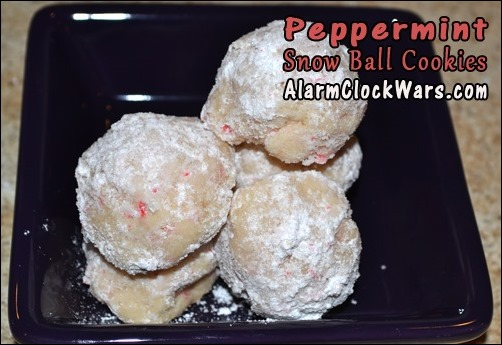 peppermint snow ball cookies