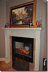 Fall Fireplace Decor