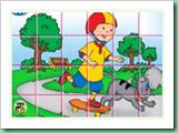 Caillou girar Puzzle