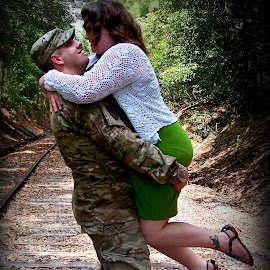 Military love by Stephanie Lariscy - People Couples ( couple, military )